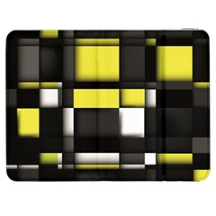 Color Geometry Shapes Plaid Yellow Black Samsung Galaxy Tab 7  P1000 Flip Case