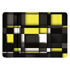Color Geometry Shapes Plaid Yellow Black Samsung Galaxy Tab 8 9  P7300 Flip Case by Alisyart