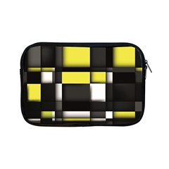 Color Geometry Shapes Plaid Yellow Black Apple Ipad Mini Zipper Cases by Alisyart