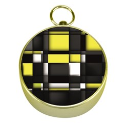 Color Geometry Shapes Plaid Yellow Black Gold Compasses
