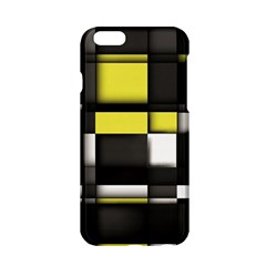 Color Geometry Shapes Plaid Yellow Black Apple Iphone 6/6s Hardshell Case by Alisyart