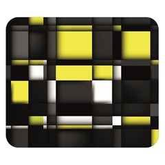 Color Geometry Shapes Plaid Yellow Black Double Sided Flano Blanket (small)  by Alisyart