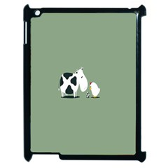 Cow Chicken Eggs Breeding Mixing Dominance Grey Animals Apple Ipad 2 Case (black) by Alisyart
