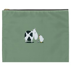 Cow Chicken Eggs Breeding Mixing Dominance Grey Animals Cosmetic Bag (xxxl)