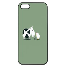 Cow Chicken Eggs Breeding Mixing Dominance Grey Animals Apple Iphone 5 Seamless Case (black)