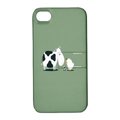 Cow Chicken Eggs Breeding Mixing Dominance Grey Animals Apple Iphone 4/4s Hardshell Case With Stand