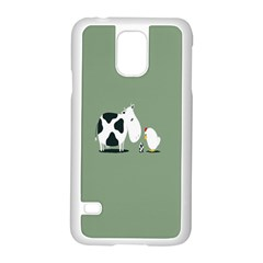 Cow Chicken Eggs Breeding Mixing Dominance Grey Animals Samsung Galaxy S5 Case (white)