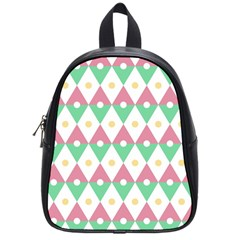 Diamond Green Circle Yellow Chevron Wave School Bags (small)  by Alisyart