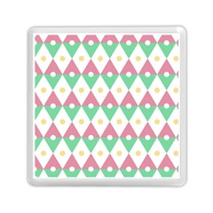Diamond Green Circle Yellow Chevron Wave Memory Card Reader (square)  by Alisyart