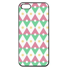 Diamond Green Circle Yellow Chevron Wave Apple Iphone 5 Seamless Case (black)