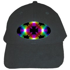 Circle Color Flower Black Cap
