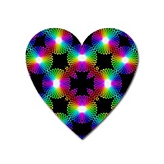 Circle Color Flower Heart Magnet by Alisyart