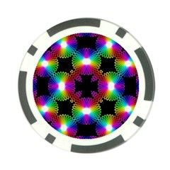 Circle Color Flower Poker Chip Card Guard (10 Pack)