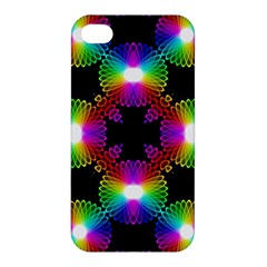 Circle Color Flower Apple Iphone 4/4s Premium Hardshell Case by Alisyart