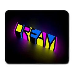 Dream Colors Neon Bright Words Letters Motivational Inspiration Text Statement Large Mousepads