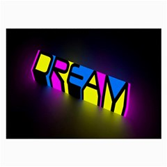 Dream Colors Neon Bright Words Letters Motivational Inspiration Text Statement Large Glasses Cloth