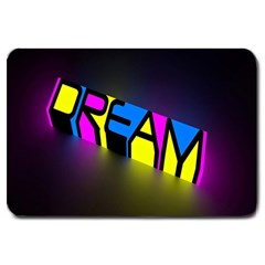 Dream Colors Neon Bright Words Letters Motivational Inspiration Text Statement Large Doormat