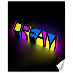 Dream Colors Neon Bright Words Letters Motivational Inspiration Text Statement Canvas 11  X 14   by Alisyart
