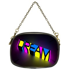 Dream Colors Neon Bright Words Letters Motivational Inspiration Text Statement Chain Purses (one Side)  by Alisyart