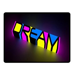 Dream Colors Neon Bright Words Letters Motivational Inspiration Text Statement Fleece Blanket (small)