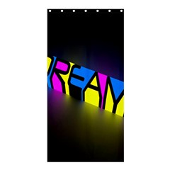 Dream Colors Neon Bright Words Letters Motivational Inspiration Text Statement Shower Curtain 36  X 72  (stall)