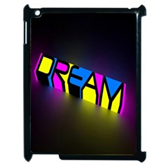Dream Colors Neon Bright Words Letters Motivational Inspiration Text Statement Apple Ipad 2 Case (black)