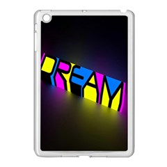 Dream Colors Neon Bright Words Letters Motivational Inspiration Text Statement Apple Ipad Mini Case (white)