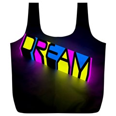 Dream Colors Neon Bright Words Letters Motivational Inspiration Text Statement Full Print Recycle Bags (l)  by Alisyart