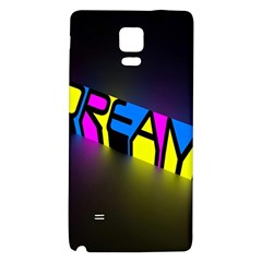 Dream Colors Neon Bright Words Letters Motivational Inspiration Text Statement Galaxy Note 4 Back Case by Alisyart