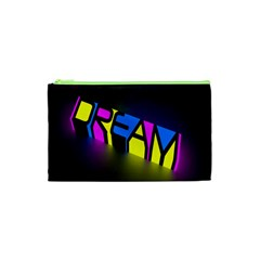 Dream Colors Neon Bright Words Letters Motivational Inspiration Text Statement Cosmetic Bag (xs) by Alisyart