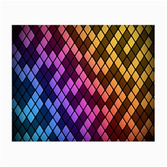 Colorful Abstract Plaid Rainbow Gold Purple Blue Small Glasses Cloth