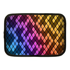 Colorful Abstract Plaid Rainbow Gold Purple Blue Netbook Case (medium)  by Alisyart