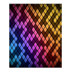 Colorful Abstract Plaid Rainbow Gold Purple Blue Shower Curtain 60  X 72  (medium)