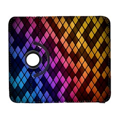 Colorful Abstract Plaid Rainbow Gold Purple Blue Galaxy S3 (flip/folio) by Alisyart