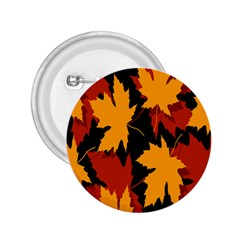 Dried Leaves Yellow Orange Piss 2 25  Buttons