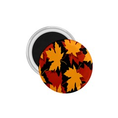 Dried Leaves Yellow Orange Piss 1 75  Magnets by Alisyart