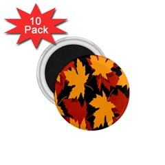Dried Leaves Yellow Orange Piss 1 75  Magnets (10 Pack)  by Alisyart