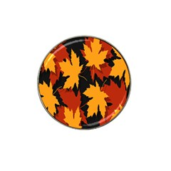 Dried Leaves Yellow Orange Piss Hat Clip Ball Marker (10 Pack) by Alisyart