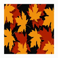 Dried Leaves Yellow Orange Piss Medium Glasses Cloth by Alisyart