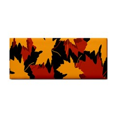Dried Leaves Yellow Orange Piss Cosmetic Storage Cases by Alisyart