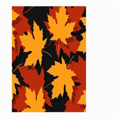Dried Leaves Yellow Orange Piss Large Garden Flag (two Sides) by Alisyart