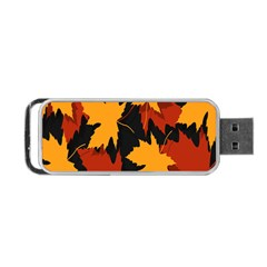 Dried Leaves Yellow Orange Piss Portable Usb Flash (two Sides)