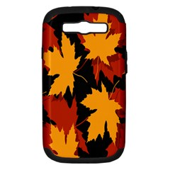 Dried Leaves Yellow Orange Piss Samsung Galaxy S Iii Hardshell Case (pc+silicone)