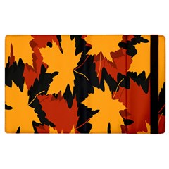 Dried Leaves Yellow Orange Piss Apple Ipad 2 Flip Case by Alisyart