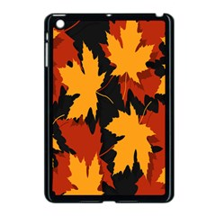 Dried Leaves Yellow Orange Piss Apple Ipad Mini Case (black) by Alisyart
