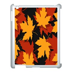 Dried Leaves Yellow Orange Piss Apple Ipad 3/4 Case (white) by Alisyart