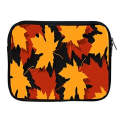 Dried Leaves Yellow Orange Piss Apple Ipad 2/3/4 Zipper Cases by Alisyart