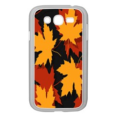 Dried Leaves Yellow Orange Piss Samsung Galaxy Grand Duos I9082 Case (white) by Alisyart