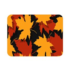 Dried Leaves Yellow Orange Piss Double Sided Flano Blanket (mini)
