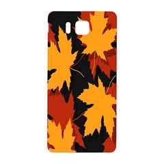 Dried Leaves Yellow Orange Piss Samsung Galaxy Alpha Hardshell Back Case by Alisyart
